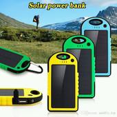 Power Bank Solar 10000 MAh с солнечной батареей и фонариком