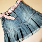 Джинсовая юбка для девочки 3-4 года рост 104
