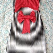 ♥️ Итальянское облегающее платье XS с красивой спинкой. Браслет в подарок!! ♥️
