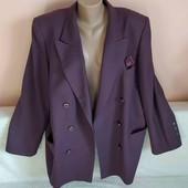 Шикарний шерстяний піджак-кардиган, вказано р. 46.Заміри