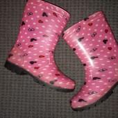 Резиновые сапоги с утеплителем для девочки ,размер 31,стелька 19см