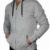 стильная мужская кофта с капюшоном , начес в середине. Германия
