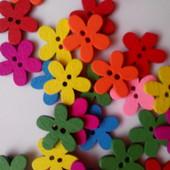 Пуговки цветочки.Лот21 шт.