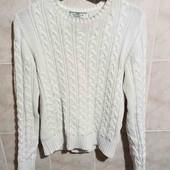 свитер белый крупная вязка ХС