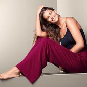 ☘ Жіночі повсякденні брюки, бордові Tchibo (Німеччина), розмір наш: 50-52 (44/46 євро)