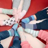 ☘ Лот 2 пари ☘ Для дівчинки-яскраві бавовняні шкарпетки від tcm Tchibo (Німеччина), розміри: 27-30