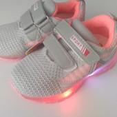 Кросовки для девочек с мигающей подошвой