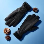 ☘ Теплі рукавички softshell на хутрі від Tchibo (Німеччина), розмір 7.5