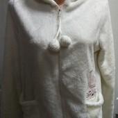 Мягчайшая, теплая толстовка - меховушка с капюшоном, Пог 51+, сост. отличное