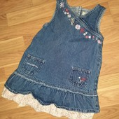 Джинсовый сарафан платье для девочки 2-3 года
