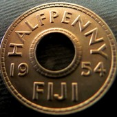 №30 монета Фиджи ½ пенни, 1954