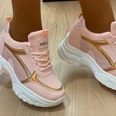 Нові модні кросівки р.37, устілка 23 см. Кроссовки платформа