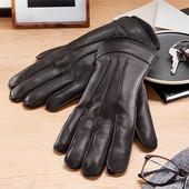 ⚙ Шикарні зимові рукавички з натуральної шкіри, Tchibo (Німеччина), 8,5