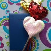 набор: блокнот и ручка с сердцем)
