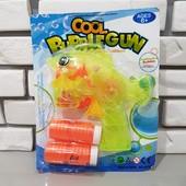 Светящийся Пистолет с мыльными пузырями в виде рыбки с двумя запасками! С подсветкой!!!