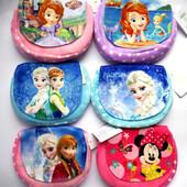 Прекрасные велюровые сумочки для девочек Фроузен и София, одна на выбор!