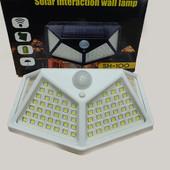 Уличный фонарь, светильник с датчиком движения,прожектор на солнечной батарее Solar Wall Lamp SH-100