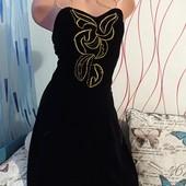 Бархатное платье размер S❤️❤️❤️ Лоты комбинирую бесплатно смотрите остальные