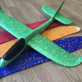 Самолёт метательный в наличие 5 цветов, 48х48см без света, хит продаж!