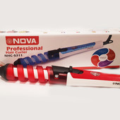 Спиральная плойка, плойка для создания локонов Nova , красная