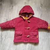 Теплая Деми куртка c&a на 80 см в отличном состоянии