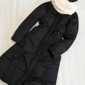 ❤Длинный теплый пуховик пальто s/m❤ уп 15%, нп 5% скидка!