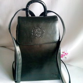 Фірменний Long International каркасний рюкзак з еко - шкіри. Не пропустіть !!!