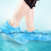 Водонепроникні бахіли від дощу waterproof silicone shoe cover оптом 3 цвета 1 на выбор раз м (39_42)