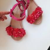 Zara! Обалденные брендовые босоножки сандали доя девочки, 28 р