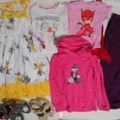 Пакет вещей и обувь для девочки 4-6 лет