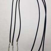 Шнурок на шею каучук, подвеска на шею каучуковая,Шнурок для подвесок на шею с застежкой-карабином 45