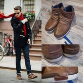 Крепкие мужские ботинки Ossom 46 р Кожа