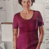 esmara.яркая вискозная  футболка с кружевом XL48/50+6замеры