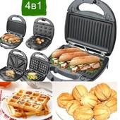 Мультимейкер 4 в 1. .гриль,орешница,сендвичница и вафельница