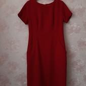 Красивое плотное красное платье ! УП скидка 10%