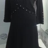 Стильное платье, рукав три четверти, размер 10-12. Читайте пож. описание!