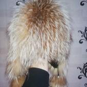 Шапка лиса натуральный мех