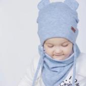 Красивые и мягусенькие комплекты для деток! Ангоровые на х/б подкладке.Шапка+снуд-косынка.