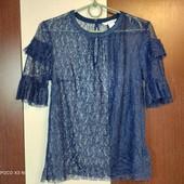 H&M uk8 нежная гипюровая блуза
