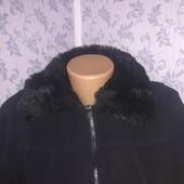 Женская Флисовая кофта(куртка) с мехом. Размер 48-50