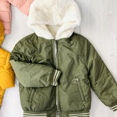 ❤️Фирменная демисезонная куртка/ шубка плюш 2в1 за пол цены! Primark