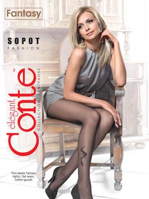 Conte колготки Sopot 20 ден чёрные, на выбор размер 2,3