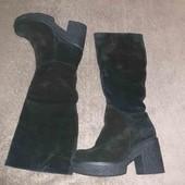 Зимові чоботи з натуральної замші