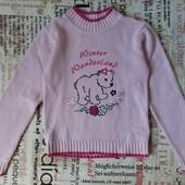 Фирменный х/б свитер на девочку.