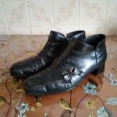 Кожаные ботинки, р.39 стелька 25-25.5 см