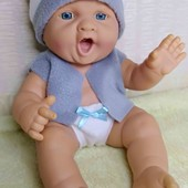 Кукла пупс новорожденный мальчик .Без звука! рост 35 см . В новом наряде.