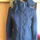 Куртка спортивная с высоким воротником и манжетами. размер S, Superdry. сост. отлич