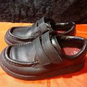 Кожаные туфли-мокасины Clarks, ориг. Индия, разм. 27,5 (16,5 см по бирке, реально 18 см).