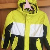 термо Куртка, весна, внутри флис, размер 7-8 лет 122-128 см, Crivit состояние отличное