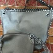 Сумка новая, стильная + маленькая сумка на плечо!!